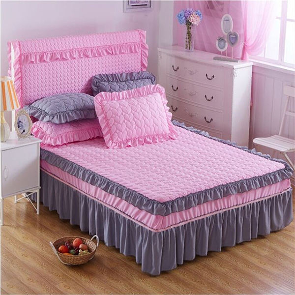wholesale home beautiful bed skirts microfiber