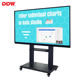 China smart 65 inch interactive board 20 dots capacitive touch screen mini stand no projector portable interactive whiteboard