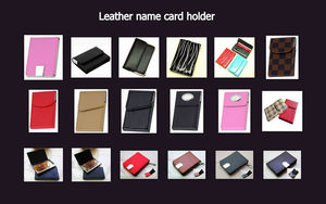 custom logo Blank stainless steel business credit card holders