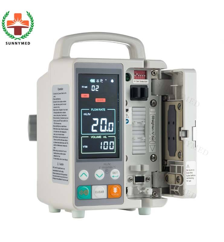 SY-G076-2 portable digital peristaltic infusion pump for ICU