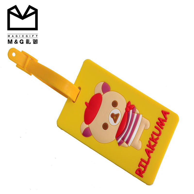 China Manufacturing Promotion PVC Soft Rubber Luggage Tag