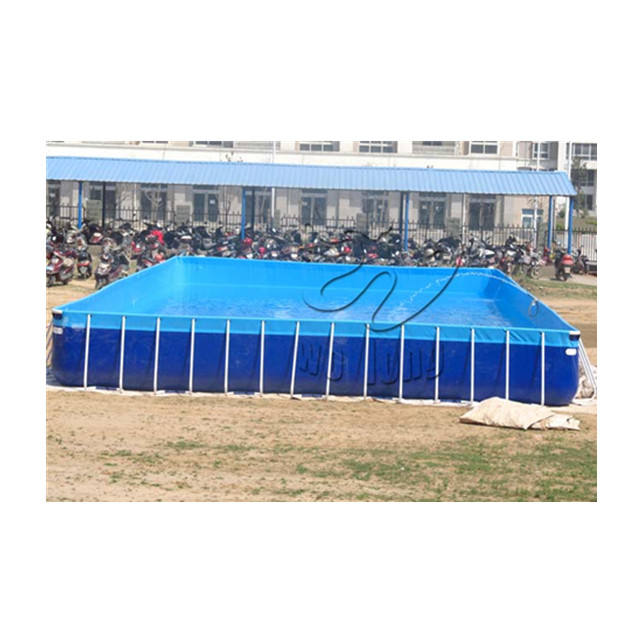 Intex Inflatable Rectangular Metal Frame portable Swimming Pools