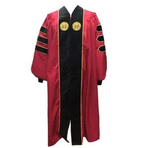 Wholesale American University Academic Graduation Doctoral Gowns Robe