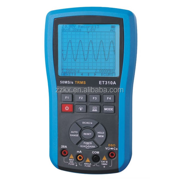 Hot DSO 50MS/s Digital Handheld Storage Oscilloscope With 4000 count Auto-Range True RMS Digital Multimeter ET310A