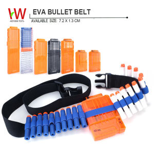 EVA bullets belt Field equipment Refill Clip Darts soft foam bullets guns outdoor toy multiplayer games Children soft toys(HM13)