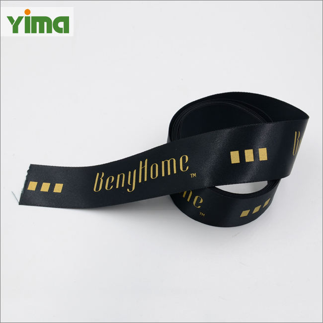 Wholesale custom printed silk organza gift ribbon satin ribbon tape grosgrain cotton ribbon with logo