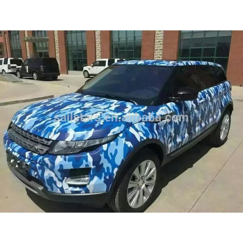 Blue tiger camouflage pattern camo vinyl wrap