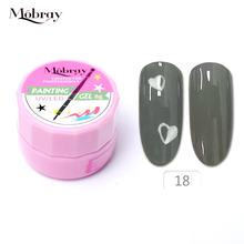 Mobray cheap nail art salon paint lacquer portable uv gel  jar 24 colors nail painting gel 8g