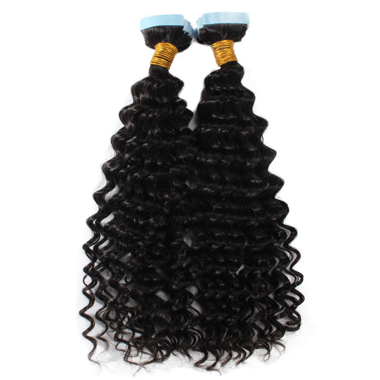 Best Selling Real 100% Human Hair Cheap Invisible Curly Tape Hair Extensions