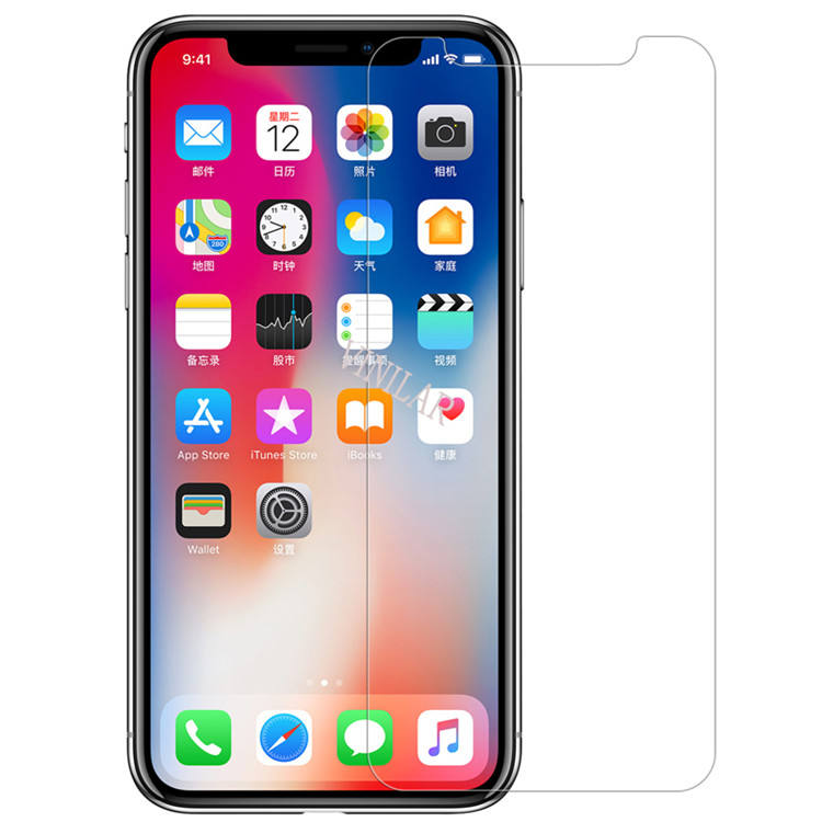 High Quality High Clear 2.5D Tempered Glass For iPhone XS max Screen Protective Film 9H Glass Film For iPhone