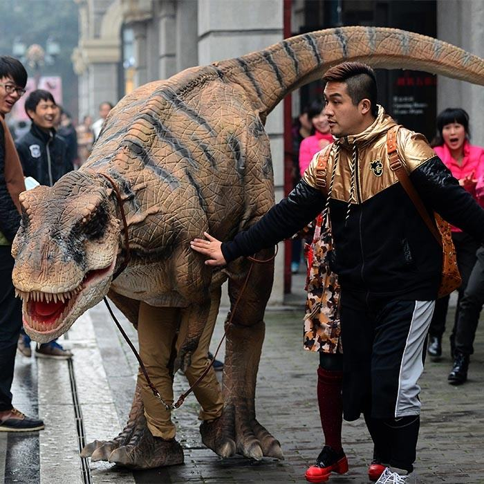 Professional customized realistic dinosaur costume for adults