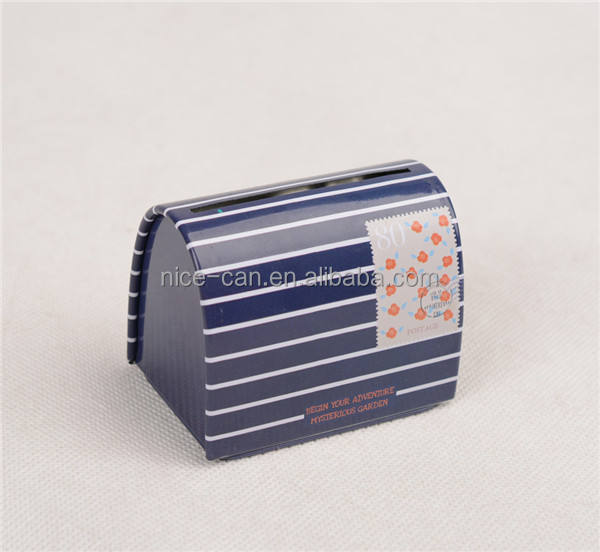 Newly design and fashionable Cute Mail Shaped Mini Music Tin Box for promotional