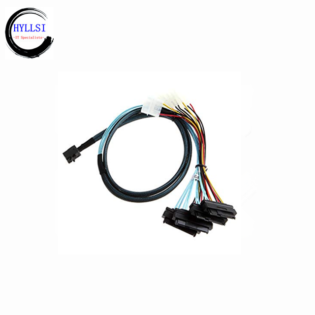 SFF-8611 to SFF-8611 Cable 0.5m Server HDD Data Transmission Cable High Speed Mini SAS Cord for Data Transmission