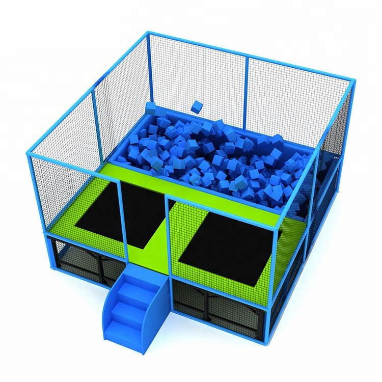 Wholesale Liben Factory Price Square Small Trampoline with Foam Pit,Bungee Trampoline