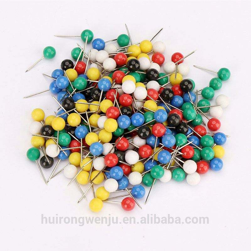 Many Sizes Multicolor Round Ball Head Thumb Tack Push Map Pins For Marking