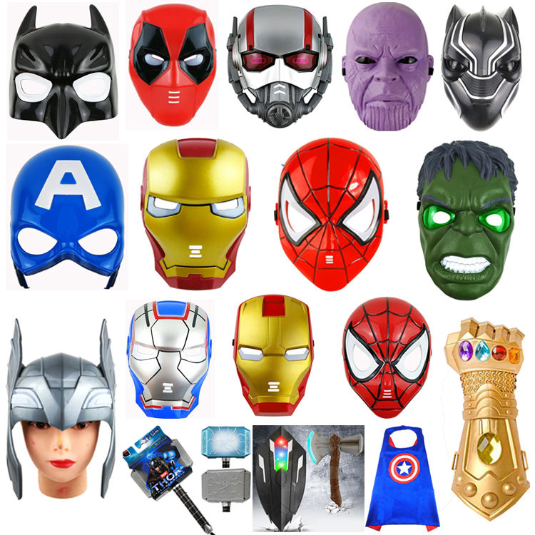 Halloween Party Cosplay Toys Kids Cartoon Masks Light up LED Mask