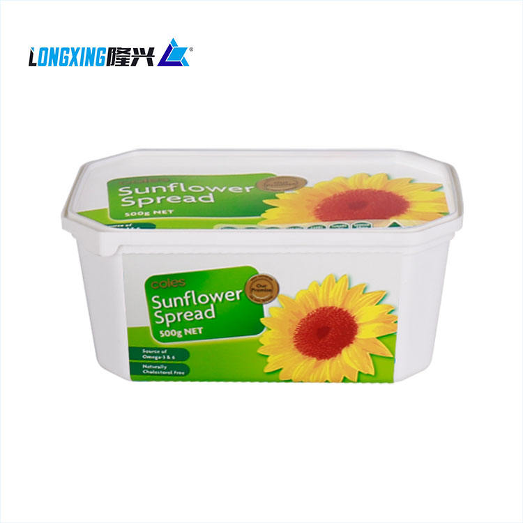 High quality IML in mold label printing container for butter margarine