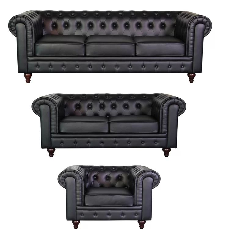 Wholesale Custom Designs Living Room Furniture Chesterfield 3 Seater Sofa