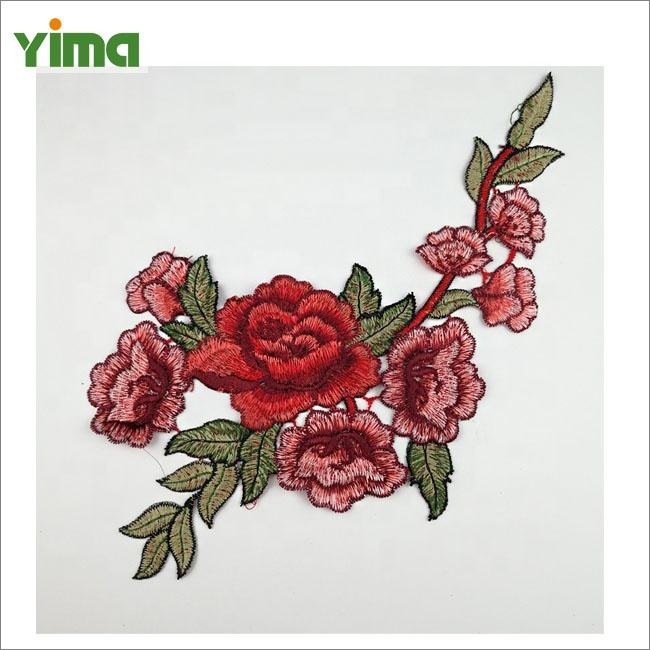 Factory wholesale sell traditional fabric embroidery 3d flower patch