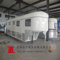 gooseneck trailer from China manufacturer with flat shape gooseneck horse trailer