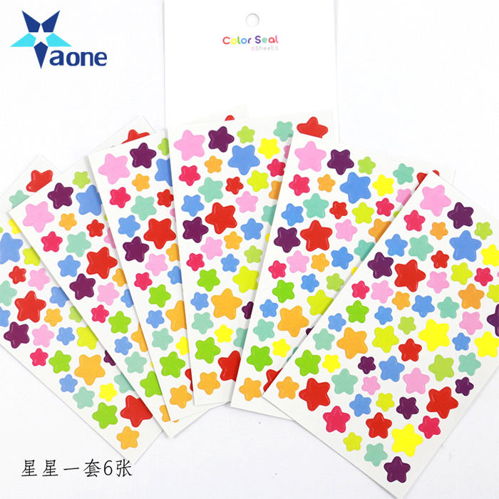Custom Kawaii Diary Heart Star Dot Shaped Happy Planner Stickers sticky Notes stationery Decorative Products Memo Pad in Stock