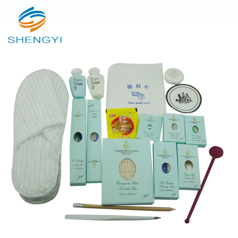 Shampoo personalized compact hotel bedroom amenities kit sets