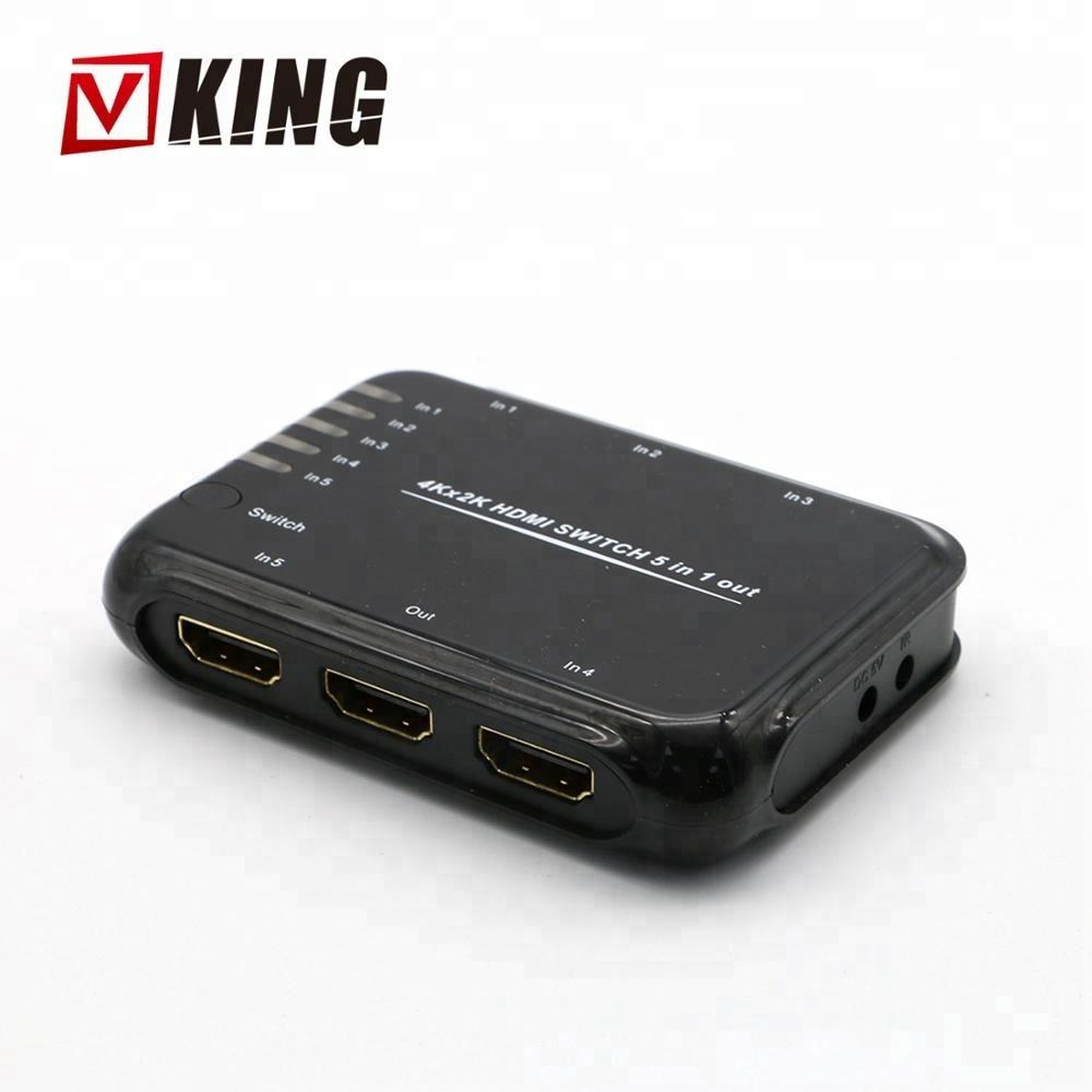 5 port hdmi switch 5x1 와 rf remote HDMI 1.4 볼트