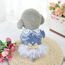 New Arrival Dog Clothes Summer Spring Pet Denim Skirts