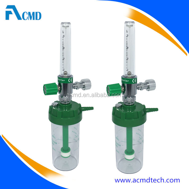 Medical Oxygen Flow Meter With Humidifier and DISS Connector