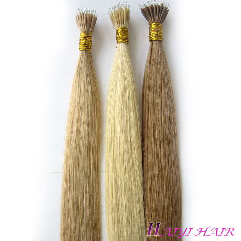 Remy double drawn full ends factory price mini 30 inch nano ring remy hair extension