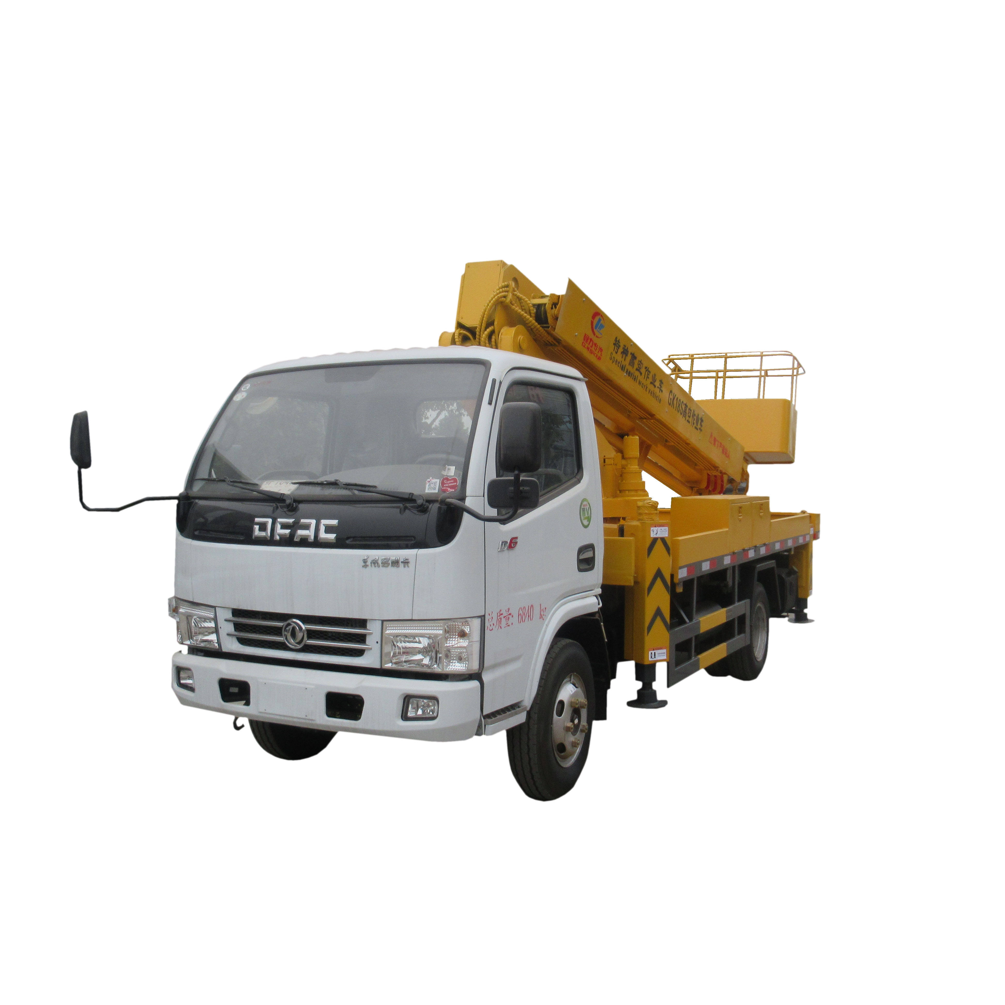 Dongfeng 4x2 12m 16m 18m 20m 22m 32m high working aerial platform telescope truck 14 m hydraulic telescopic aerial platform