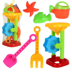 Children Beach Sand toy Hourglass & 5 Accessories 6 pcs plastic sand playing tool baby beach toys