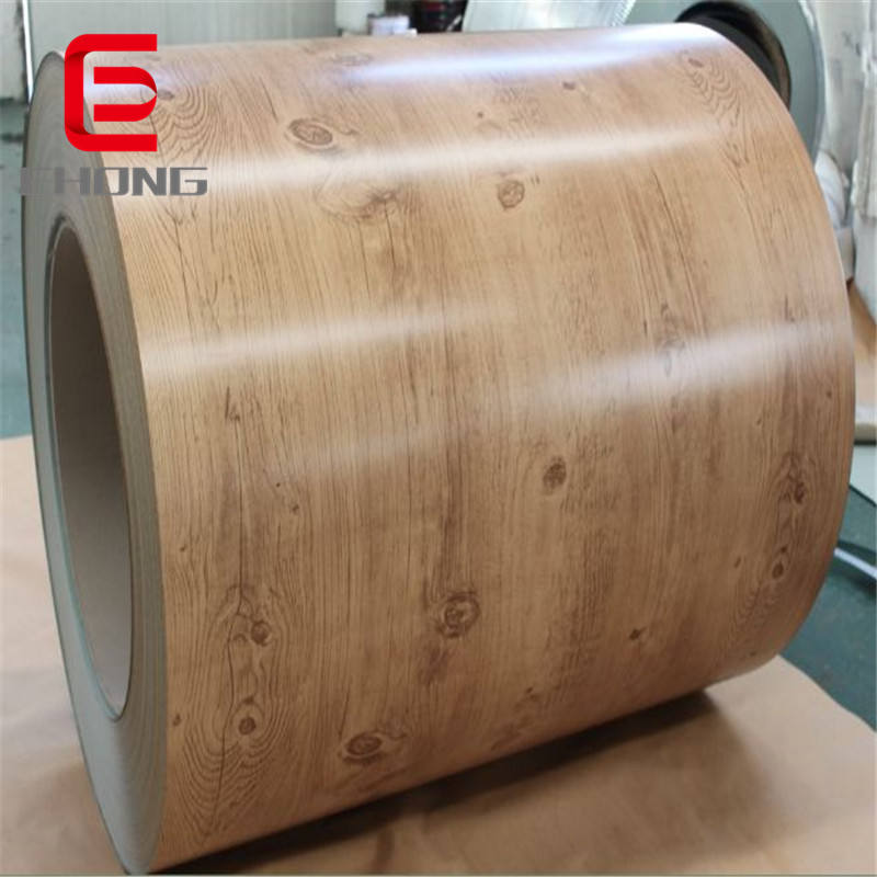 color coated steel coil PPGI /PPGI sheet , wooden pattern ppgi steel coil