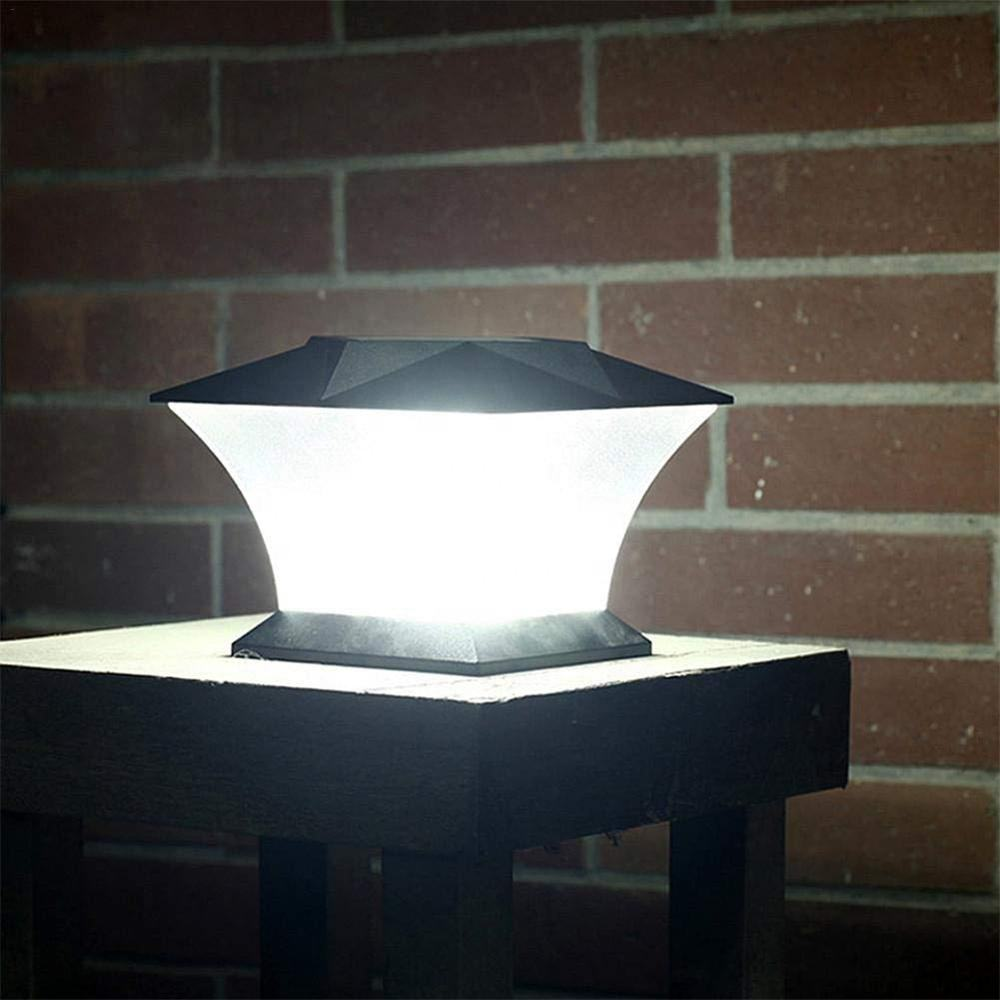 2020 Hot Sale Outdoor courtyard wall Warm White LED Post Cap Solar light Outdoor Pillar Column Garden Lights