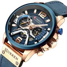 CURREN Watch 8329 Casual Sport Chronograph Watches Men Wrist Luxury Quartz Leather Waterproof Wristwatches Relogio Masculino