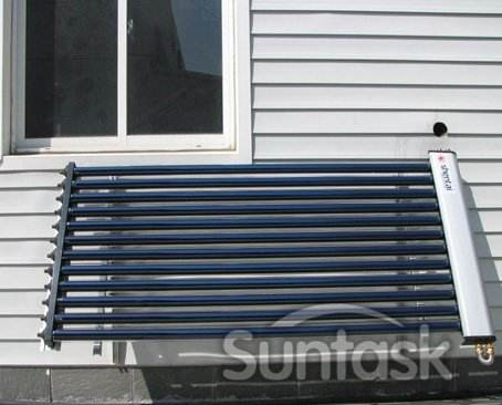 Super Thermal U Heat Pipe Split and Pressurized Balcony Wall Mounted Solar Water Heater for High Buliding SFW100-01