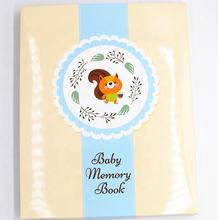 Customized First 5 Years  Baby Memory Book with footprint Clean-Touch Baby Safe Ink Pad/memory book with sticker