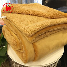 Wholesale Luxury Super Soft Warm Cozy Thick Couch Blanket Reversible Weighted Sherpa Flannel Throw Blanket Customized Size/Color