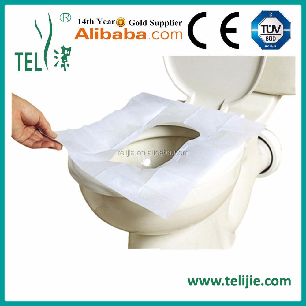 Disposable Waterproof PE Back Film Tissue Paper Toilet Seat Cover