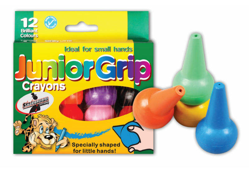 12PC WAX CRAYONS FOR FINGER