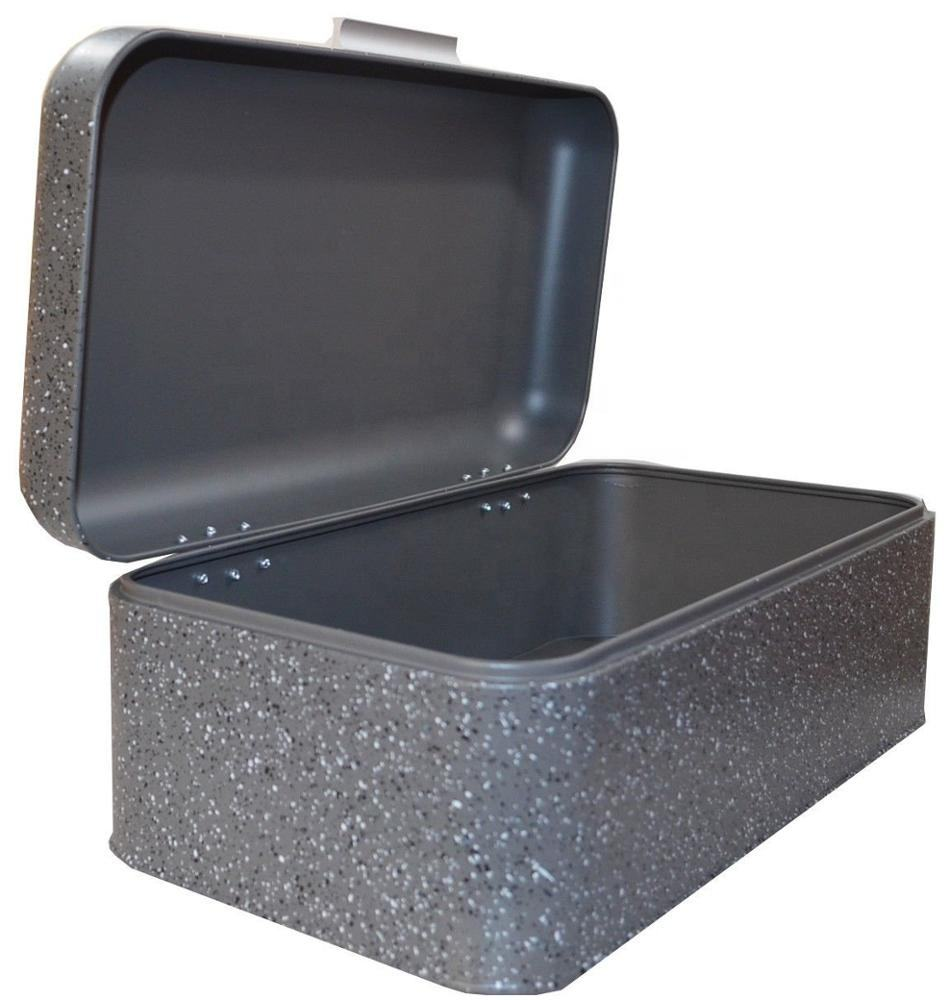 <span class=keywords><strong>Brood</strong></span> Bin Box Container met Deksel <span class=keywords><strong>Brood</strong></span> Opbergdoos Metal Case