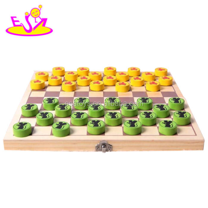 New Kids Houten <span class=keywords><strong>Checkers</strong></span> Sets, Hot Houten Smart Game Dammen, Vouwen Spel <span class=keywords><strong>Checkers</strong></span> W11A023