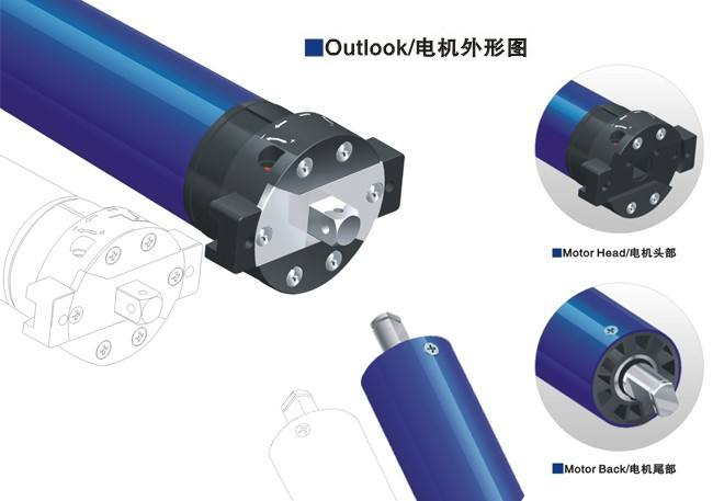 High Efficiency Tubular motor with Radio series of Automatic Door Operators, For rolling shutter
