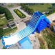 Outdoor commercial giant long 6 lines Inflatable Slide For sale