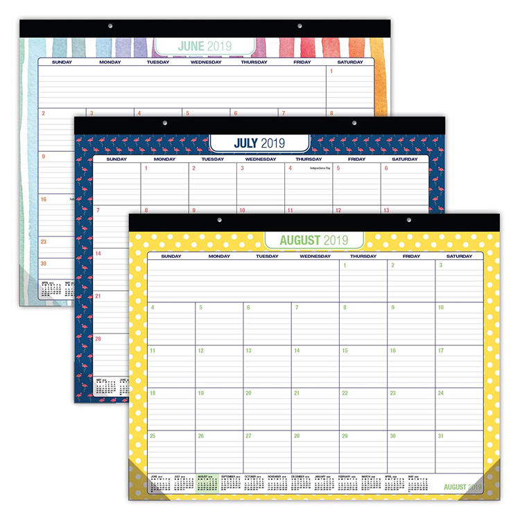 22x17 Monthly Large Month Paper Wall Desk Pad Calendar 2019 2020 For Office Table Organizer
