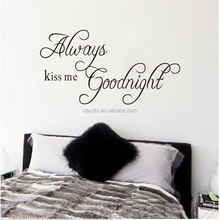 Always kiss me goodnight Proverbs stickers DIY bedroom Wall Sticker removable vinyl wall decal