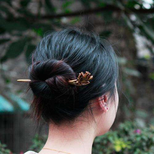Chinese Style Hair Accessories Vintage Wooden Hairpin