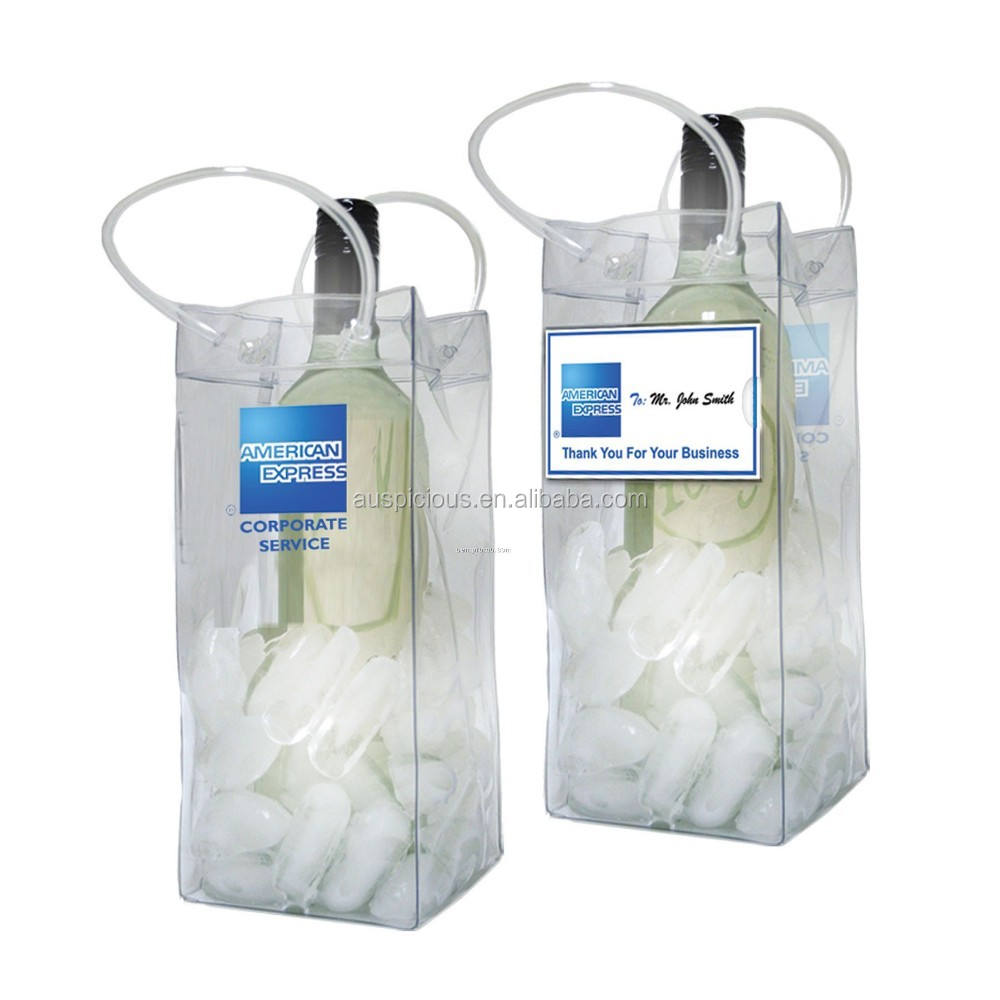 Made in China clear single beer wine bottle pvc cooler bag