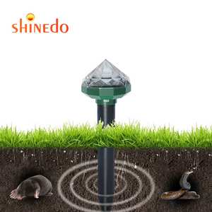 Garden Pathway Ultrasonic Sound Wave Mole Repellent Outdoor Solar RGB Led Gopher Mice Repeller