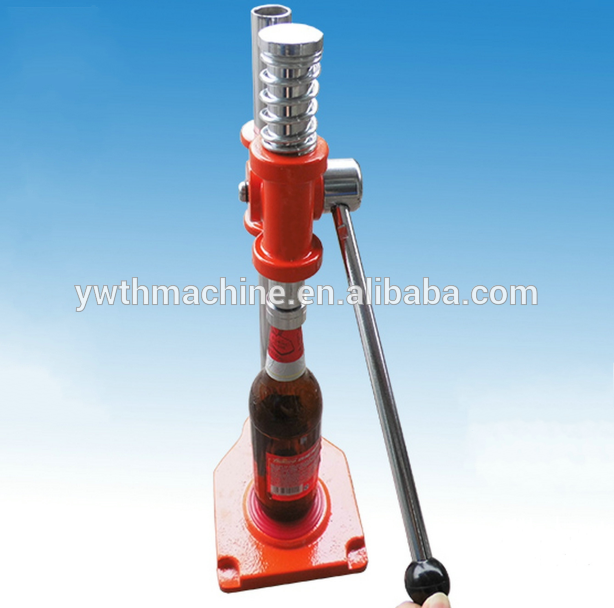 crown cap/beer bottle/soda bottle manual capper closing machine